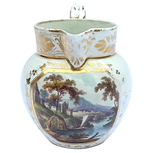 Italian Porcelain Scenic Pitcher