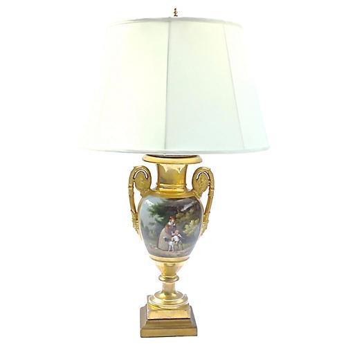 Painted Scene Lamp
