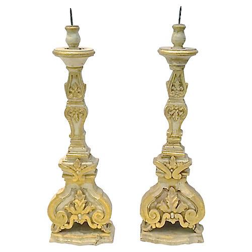 Italian Candlesticks, Pair