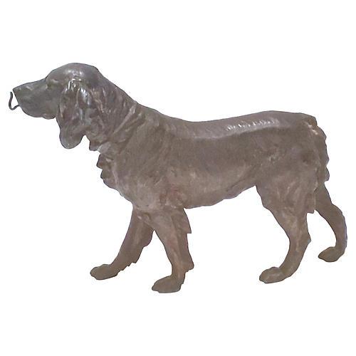 Antique Bronze Retriever Figurine