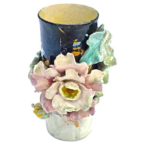 French Majolica Vase