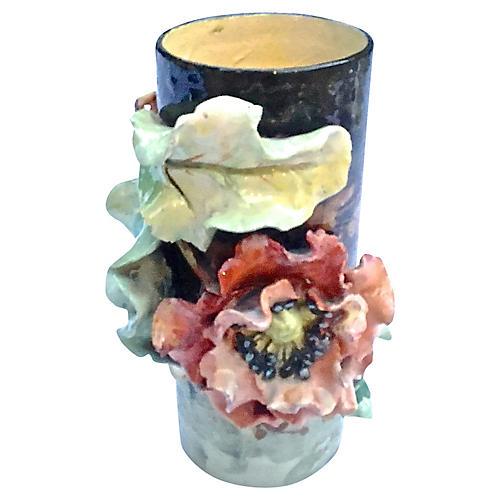Anique French Majolica Vase