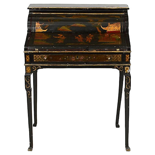 Queen Anne-Style Chinoiserie Desk