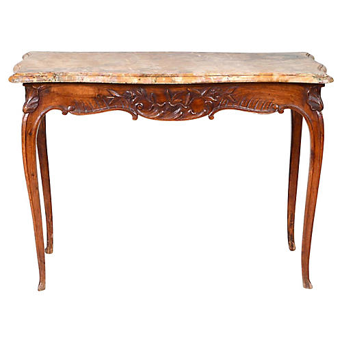 Antique Louis XV Style Marble Top Table