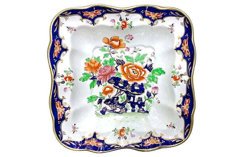 Porcelain Chinoiserie Floral Dish