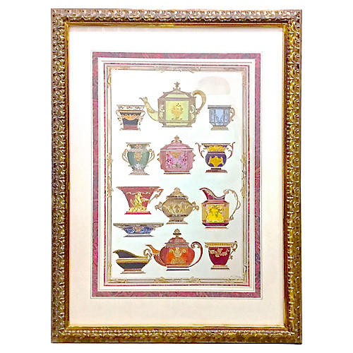 French Porcelain Teapot Print