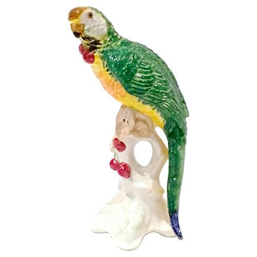 Italian Ceramic Parrot Figurine