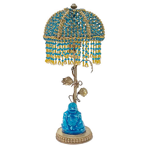 Beaded Canopy Chinoiserie Lamp