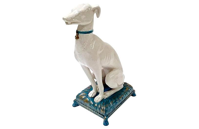 Italian Ceramic Whippet Figurine