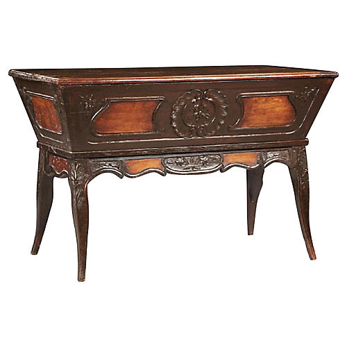 French Provincial Carved Walnut Petrin