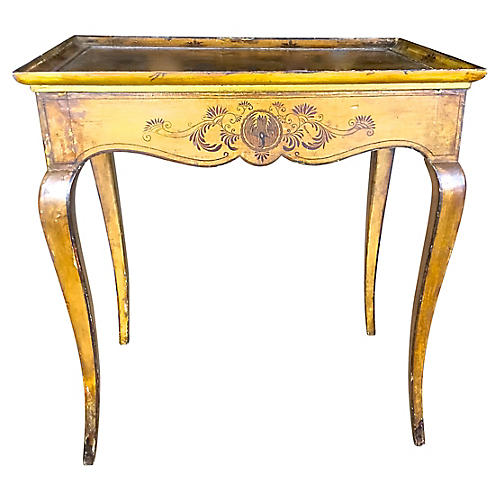 Antique Chinoiserie Style Side Table