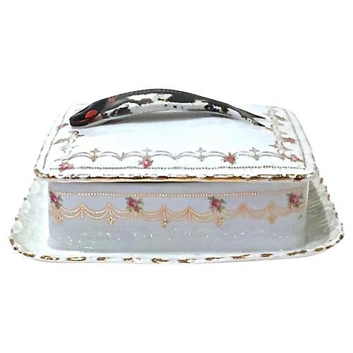 Porcelain Victoria Floral Sardine Box
