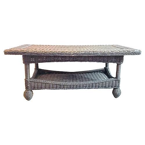 Nantucket Style Wicker Coffee Table