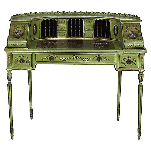 Antique Edwardian Carlton House Desk
