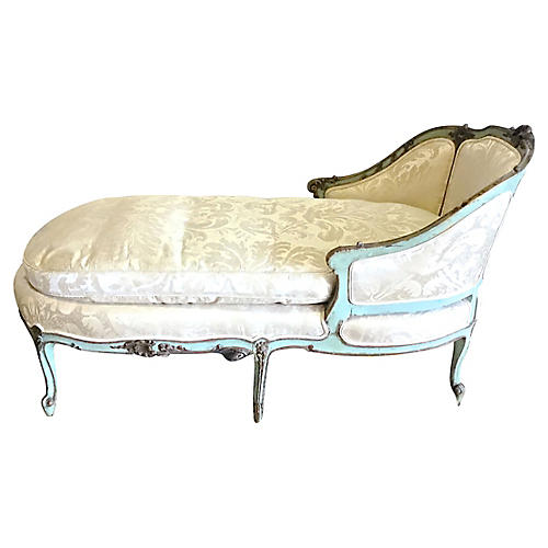 Louis XV Style Painted Chaise Lounge