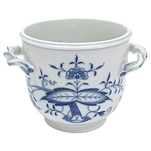 Blue & White Meissen Floral Cachepot