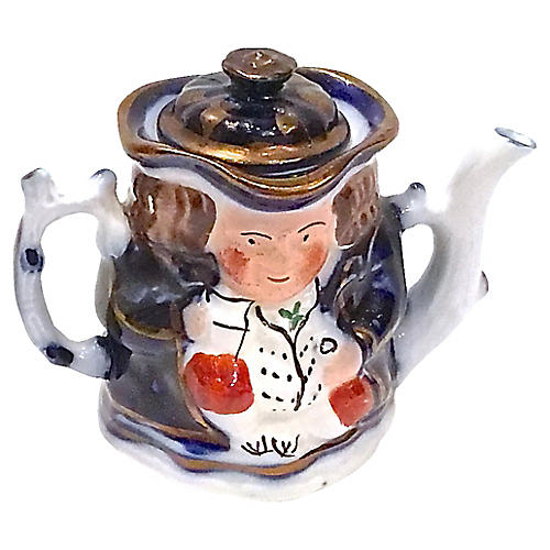Antique British Gentleman Teapot