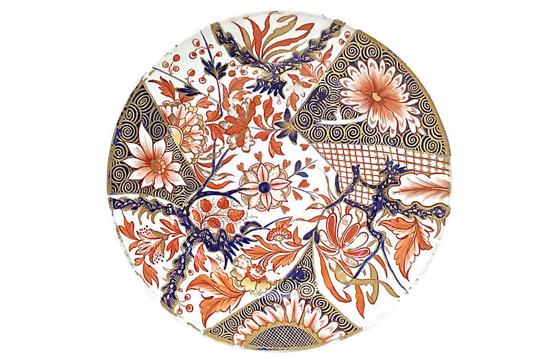 Antique Porcelain Royal Derby Plate