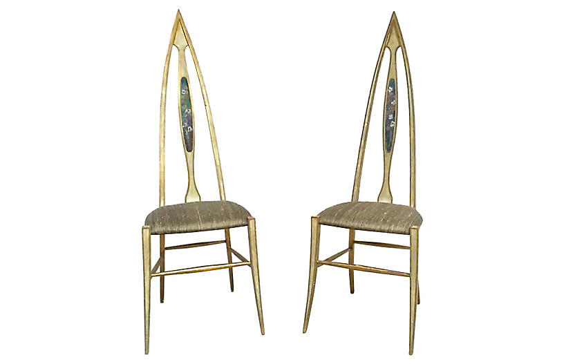 Abstract Italian Chairs, Pair
