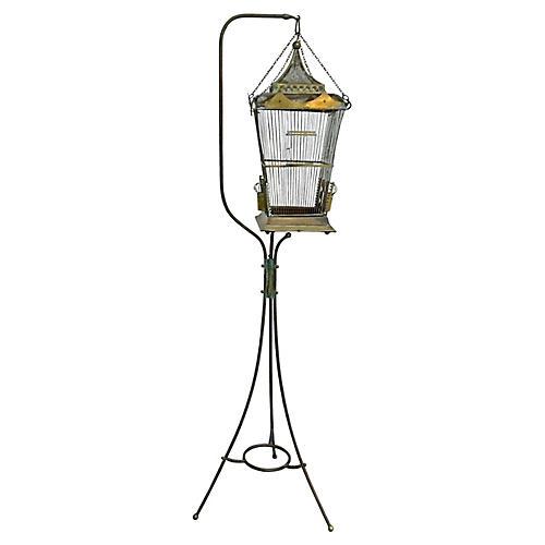 Bronze & Brass Chinoiserie Birdcage