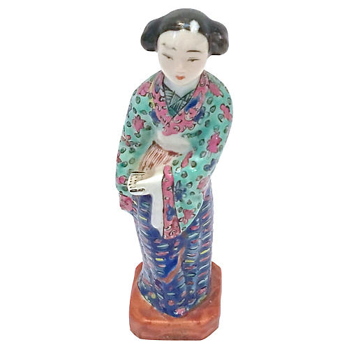 Antique Porcelain Chinese Woman Figurine