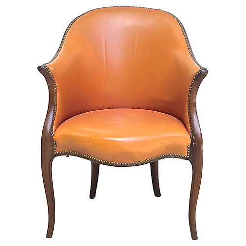 Antique George III Leather Armchair