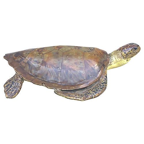 Faux Sea Tortoise Sculpture