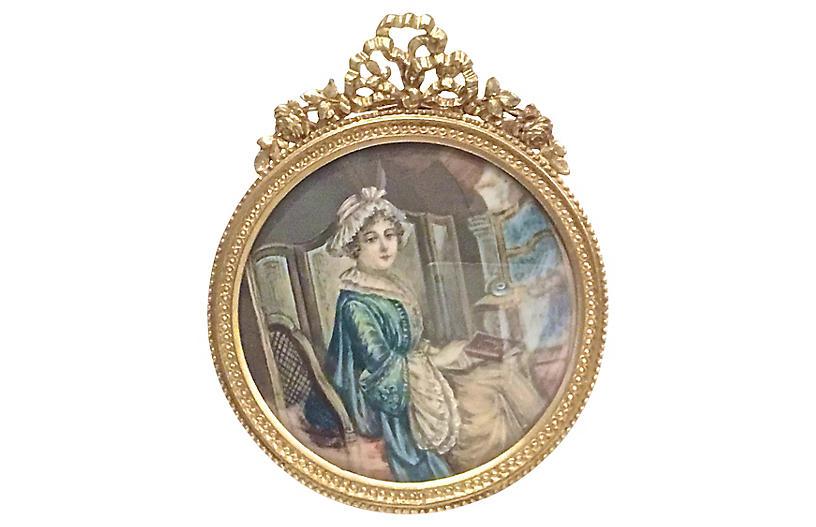 Portrait of Early 19th C. Woman - Vermilion Designs