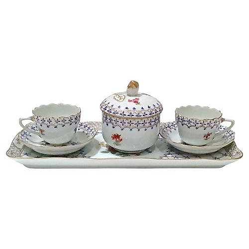 French Elios Porcelain Tea for Two Set