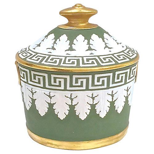 Mottahedeh Classical Jasperware Jar
