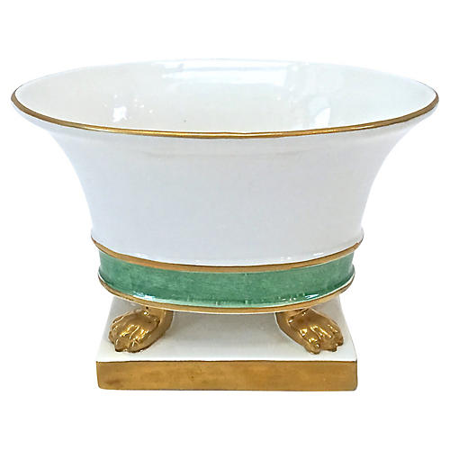Italian Oval Porcelain Cachepot