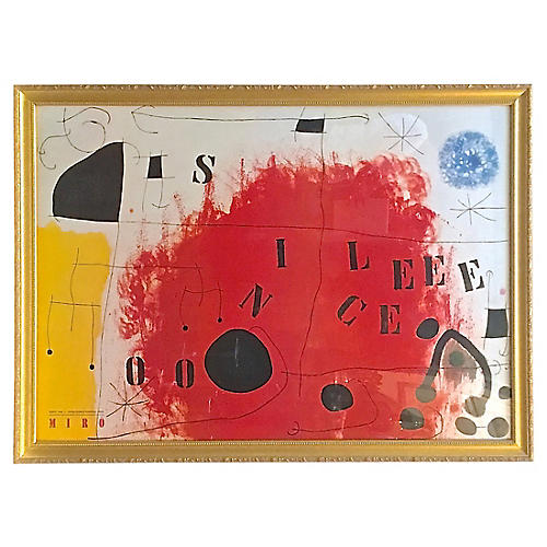 Framed Miró Exhibition Print
