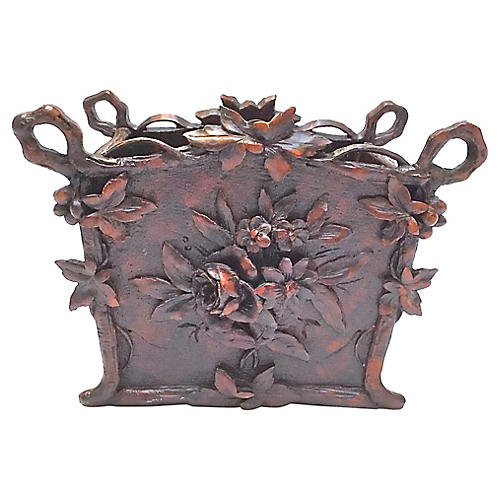 Black Forest-Style Floral Twig Cachepot