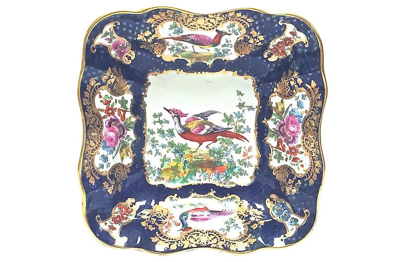 English Porcelain Bird Dish