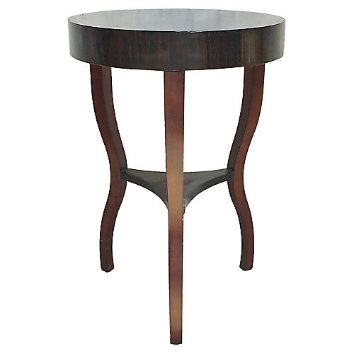 Round Macassar Ebony Side Table