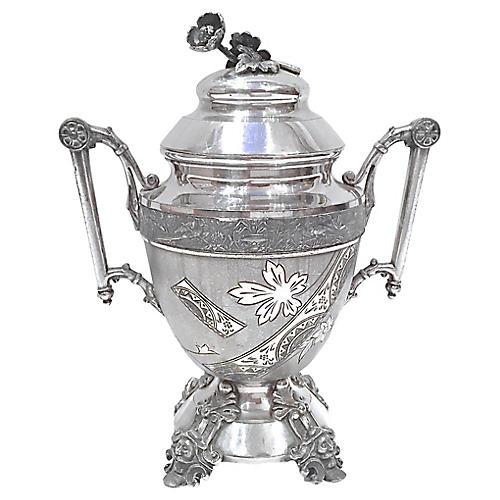 Aesthetic Movement Silver Sugar Urn