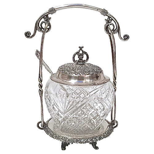 Aesthetic Movement Sugar Bowl & Caddy