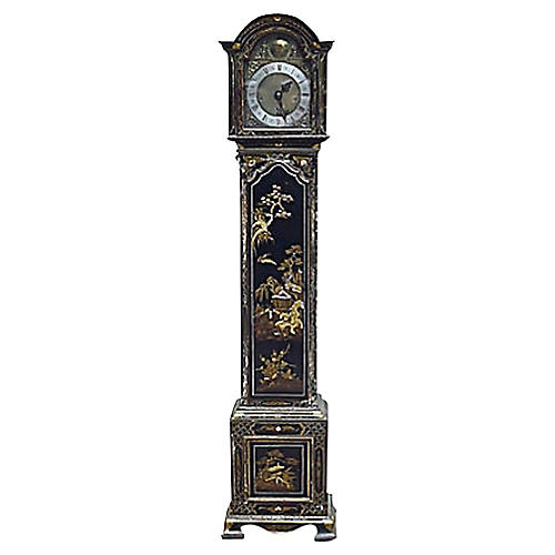Antique Chinoiserie Grandmother Clock