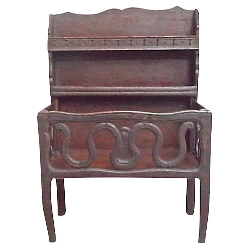 Antique French Hand-Carved Egouttoir