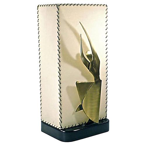 Mid-Century Modern Heifetz Figural Lamp