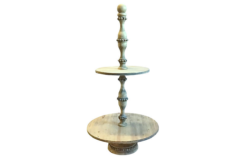 Wood Tiered Pastry Server