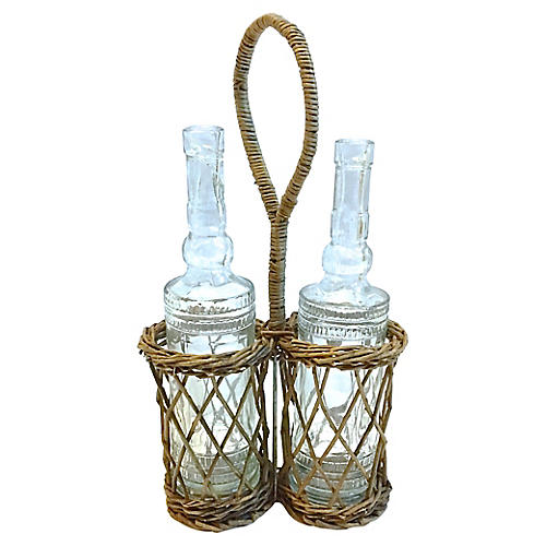 Basket Style Condiment Bottle Caddy
