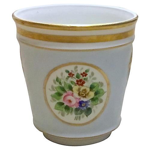 Porcelain Floral Cachepot