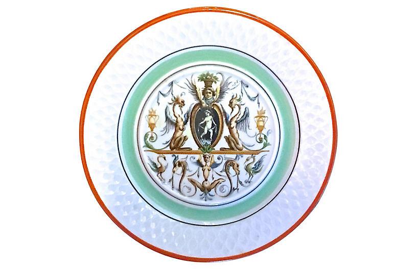 Italian Mythical Theme Porcelain Plate