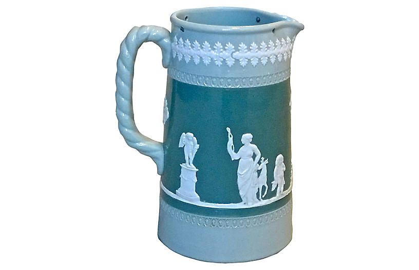 Bas Relief Style Classical Scene Pitcher