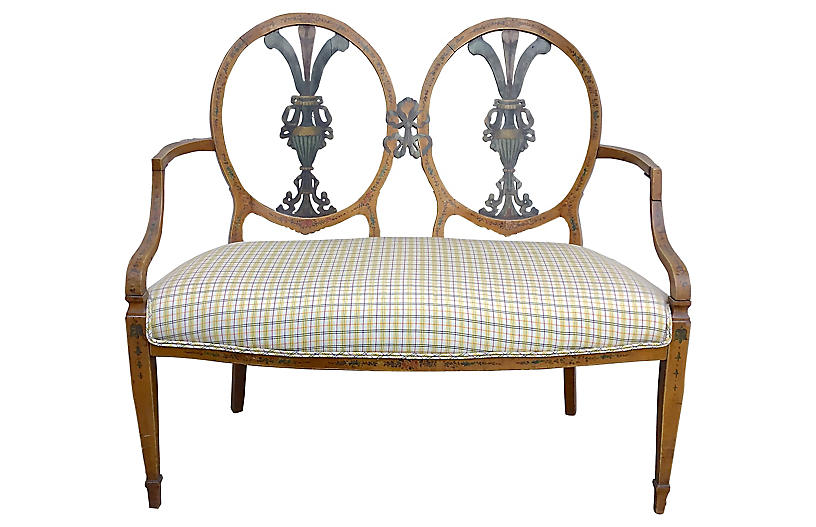Double-Medallion Settee