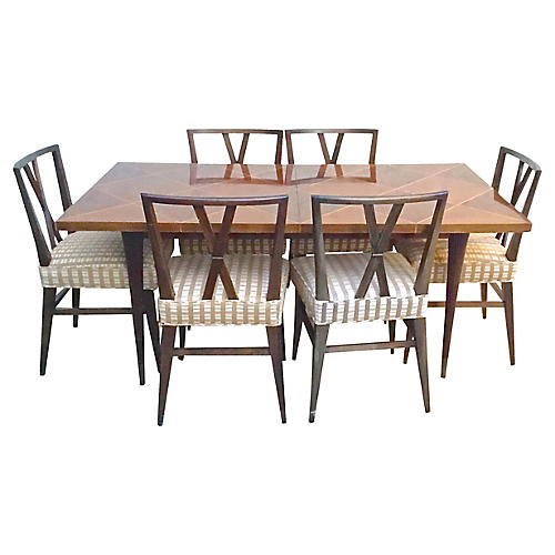 Tommi Parzinger Dining Table & Chairs