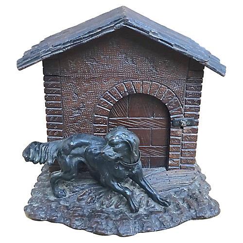 Black Forest Dog & Doghouse Cigar Box