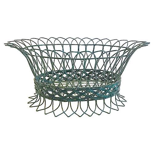 French Wire Basket Jardiniere