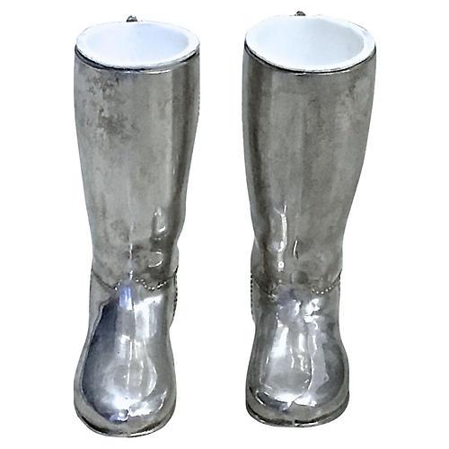 Silverplate Boot Jiggers, PR